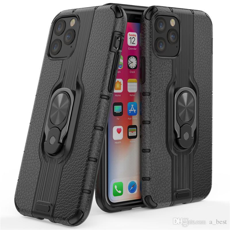 Telefon-Kasten Heavy Duty Stoß- Dual Layer-Rüstungs-Kasten-Ring-Halter-Abdeckung für iPhone 11 Pro Max XS XR Samsung Note 10 plus