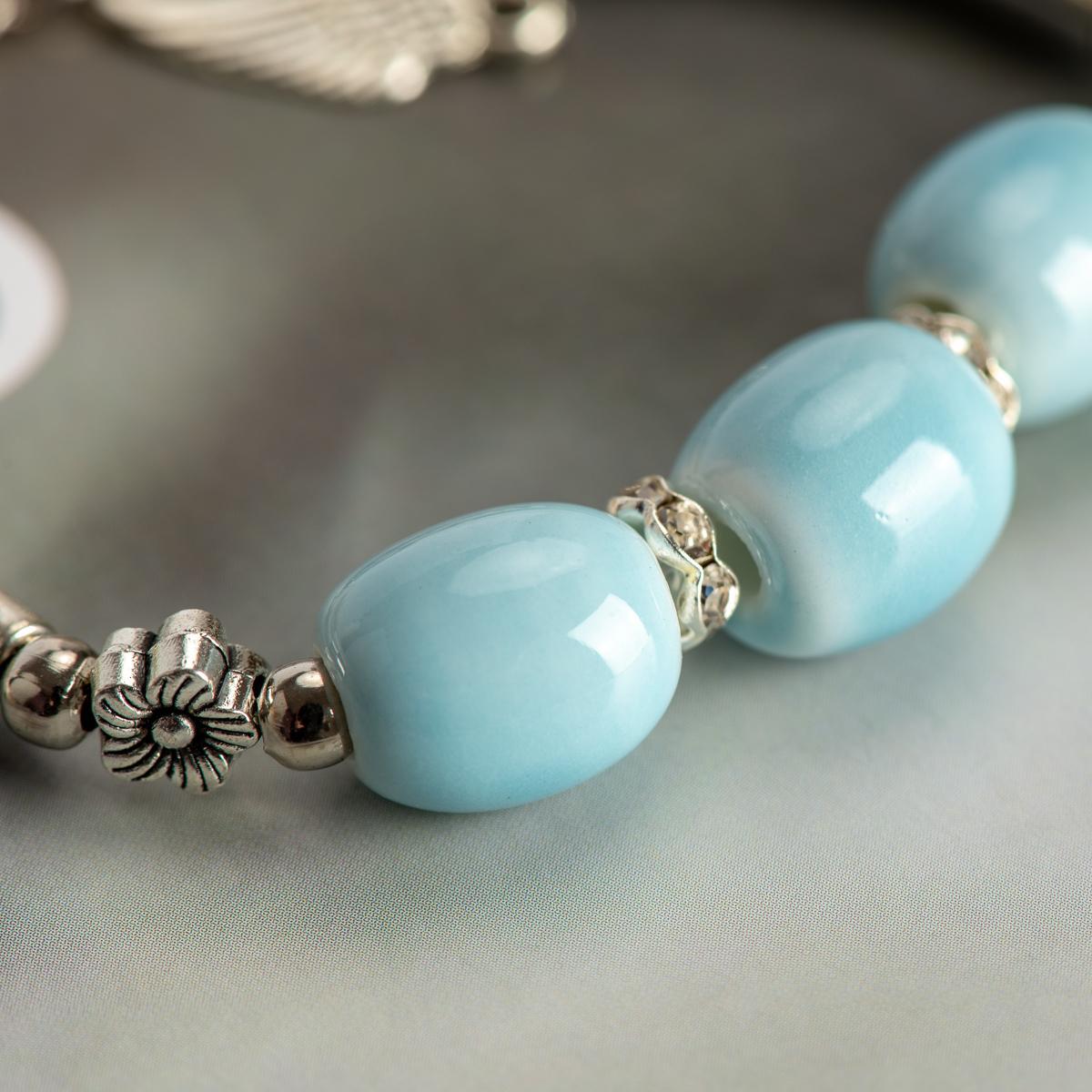 Modeschmuck Armbänder China Keramik Stein Armbänder Partei-Geschenk-Perlen Boho Keramik Schmuck für Frauen Tropfenverschiffen # HY566