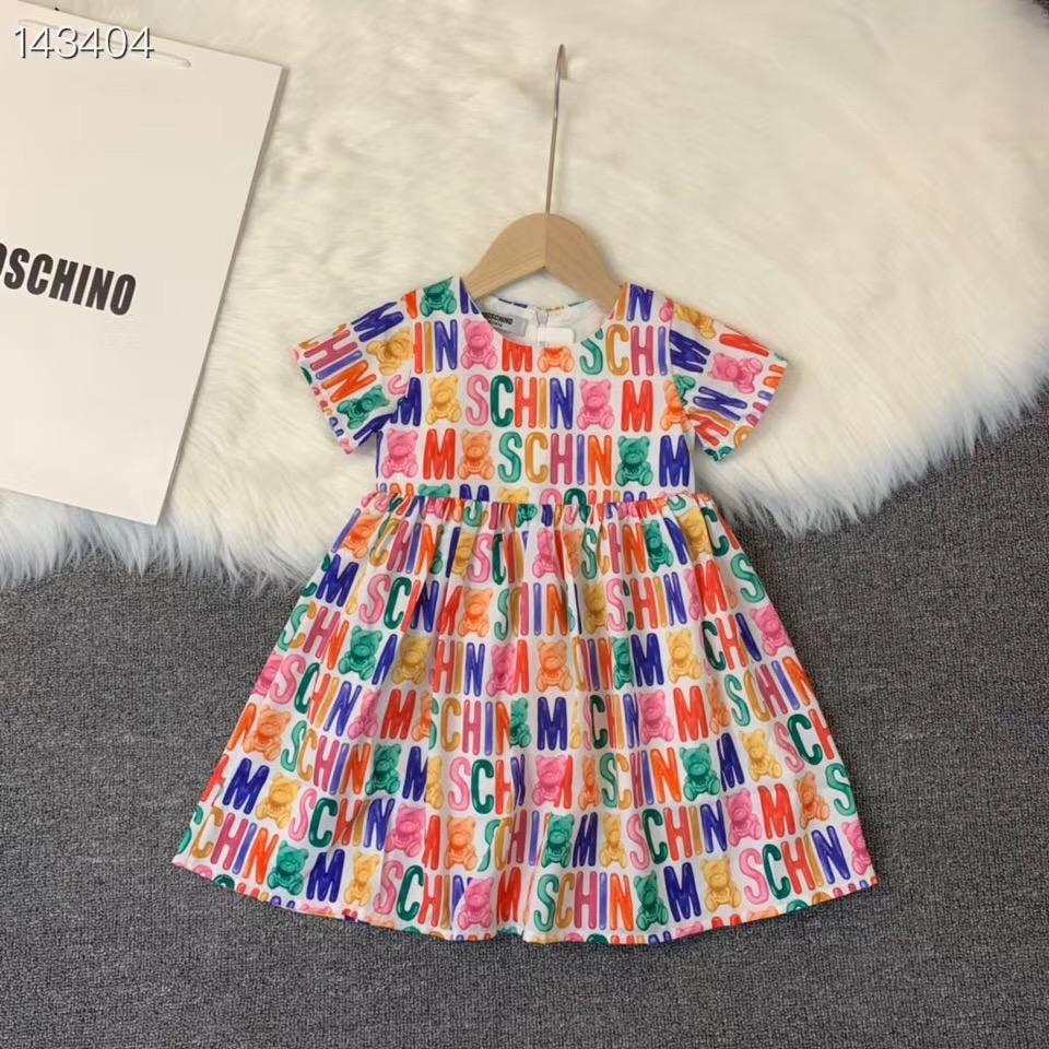 Baby Dress Menina bonito da criança Imprimir princesa manga curta Baby Dress Vestido de Verão Vestidos Verão Clothe