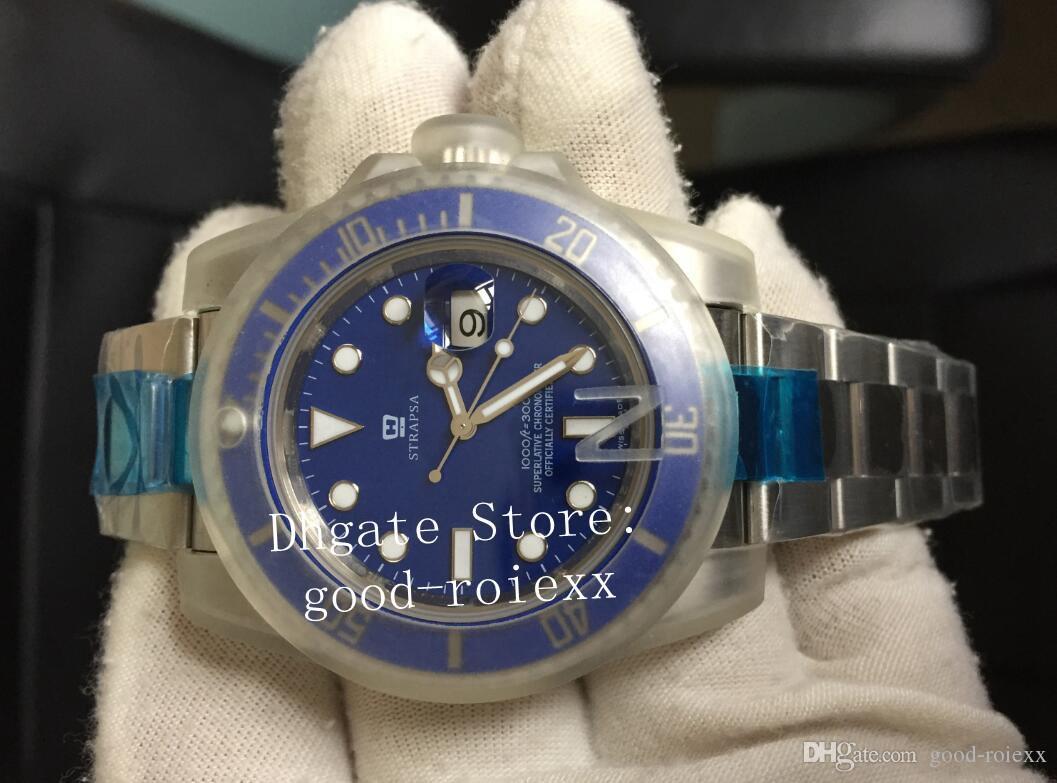 Sportuhren Für Männer V7 Version Automatisch ETA 2836 Uhr 116619 Blau Keramik Lünette 116619LB Dive Men N Sub Factory Perpetual Armbanduhren