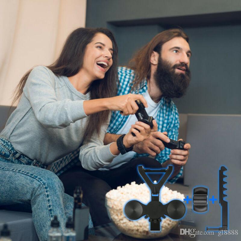 스티어링 휠 키트 미니 자동차 컨트롤러 실제 레이싱 교체 부품 추가 기능에 전자 게임 패드 게임 도구를 조립하기 쉬운 지원