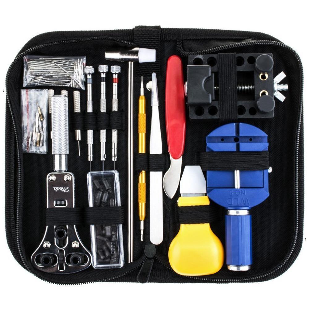 147Pcs Watch Repair Tool Kit Case Opener Link Spring Bar Remover Watchmaker Tool 20.5x10x4.5cm