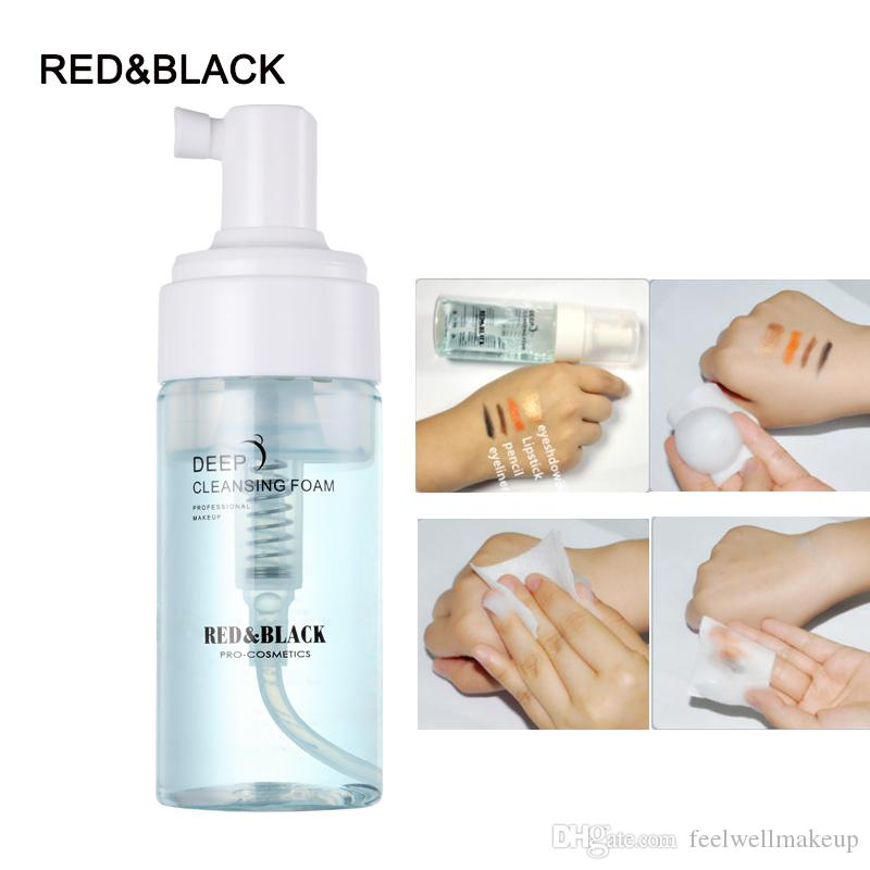 Red&Black Deep cleansing foam makeup remover gentle without irritation skin care cleaning foam 110ml easy remover foam
