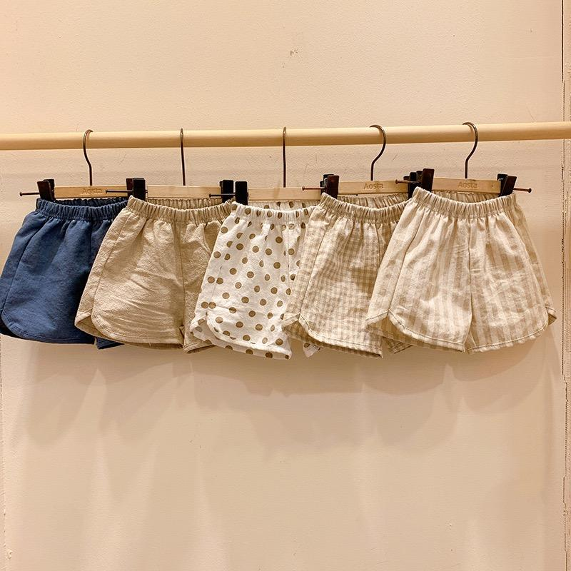 INS Summer Newest Quality INS Polka Dot Little Girls Shorts Stripes PP Pants Organic Cotton Casual Solid Blank Bloomers For Kids Girls