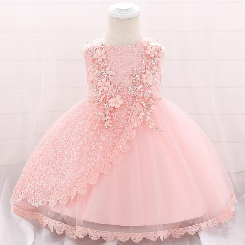 2019 Christening Dress For Baby Girl Clothes Wedding Sequin Dresses Girl One Birthday Dress Party Princess Dress 6 9 12 24 Month Y19061101