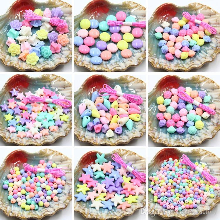 35g Acryl Schmuck Zubehör DIY Handgemachten Materialien Perlen Frühling Candy Mix Farbe Peeling Granulat Lose Perlen