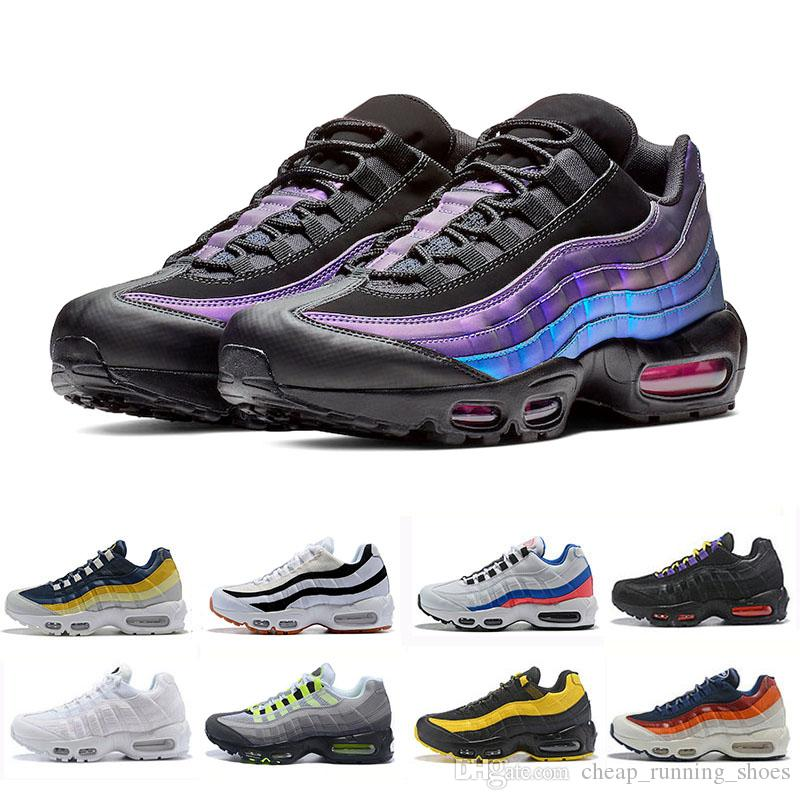 Nike Air max 95 shoes  Laser Fuchsia chaussures OG Mens Womens Running Shoes Classic Black Red White men Trainer Surface Sports outdoor Sneakers 36-46