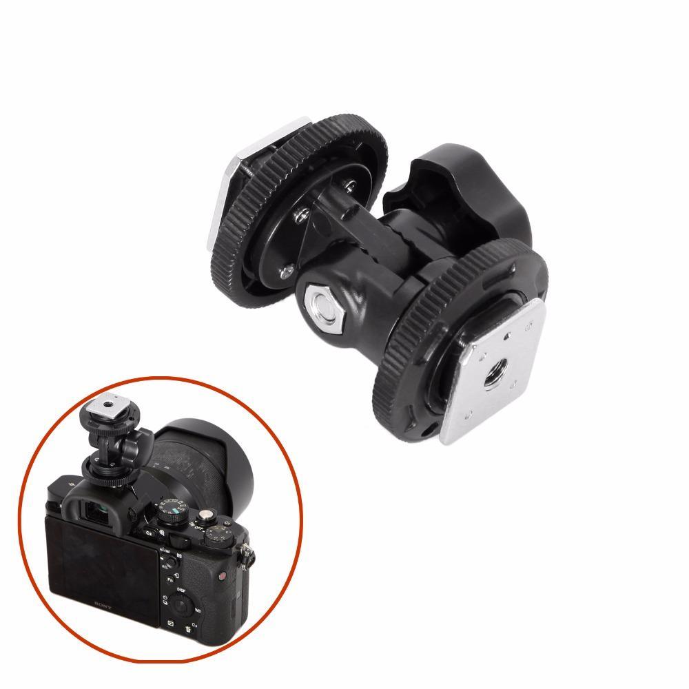 Einstellbare Videoleuchte Blitzkamera L Halterung mit doppelten
