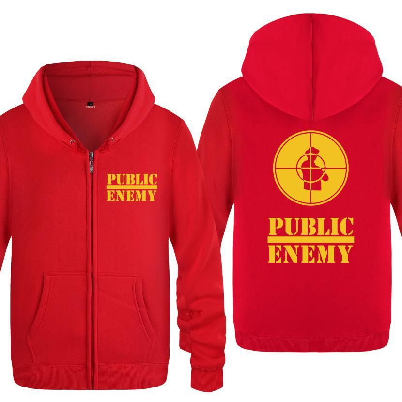 Hip Compre Rap Enemy Men Music Hoodies Impreso Hoodie Zipper Public zIWrqzn6w