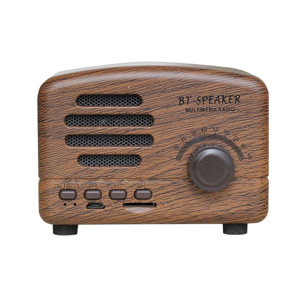 Retro Wireless Speaker Creative Gift Mini Outdoor Subwoofer Mobile Phone Radio Phonograph Card Audio
