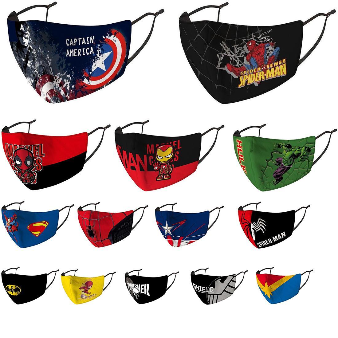 niños mascarilla diseñador de la máscara montar protección contra el frío nuevo Spiderman Batman superhéroes mascarilla para niños escudo capitán Marvel Deadpool punisher