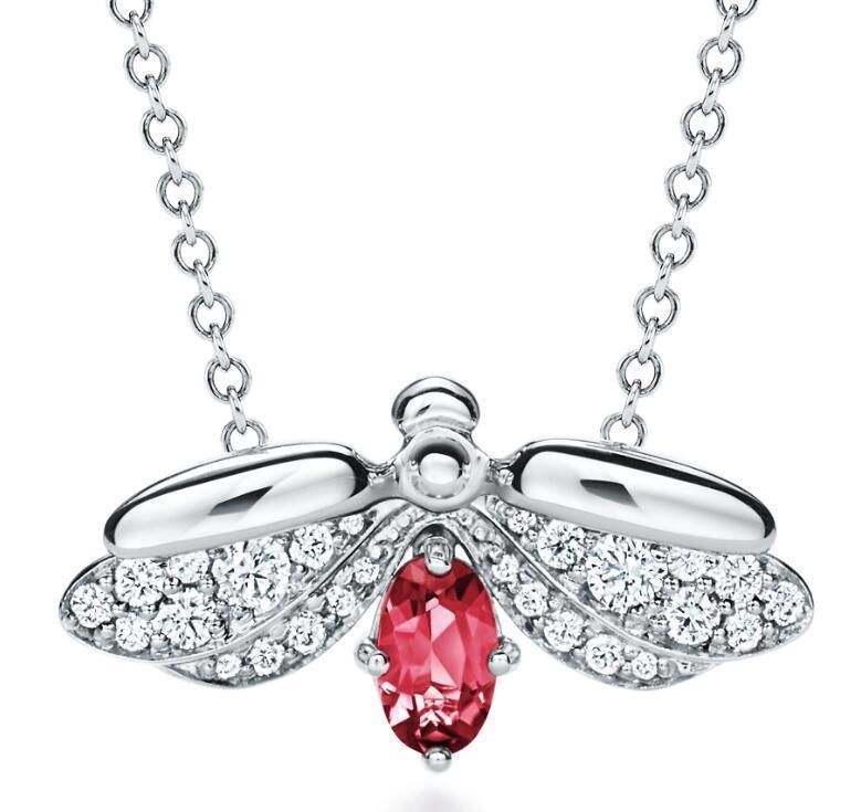 2019 nuevo de alta joyería de diseñador de moda con diamantes señoras collar elegante noble de alta calidad colgante de luciérnaga adecuado para clavic51a3 regalo #