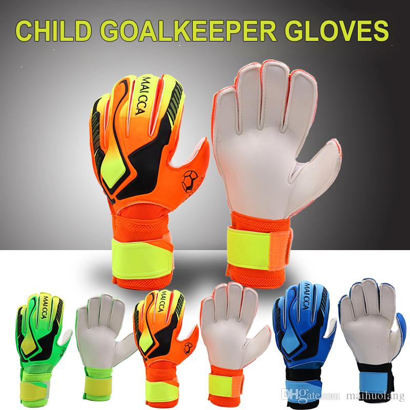 Professional Child Goalkeeper Gloves Finger Protection Thickened Latex Soccer Goalie Gloves Football Goalkeeper Gloves For Children