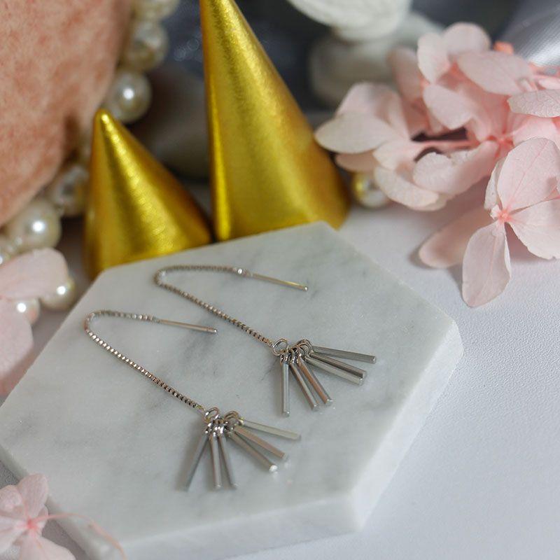 S925 esterlina brincos de prata feminina Super assimétrica explosão bonita brincos de jóias