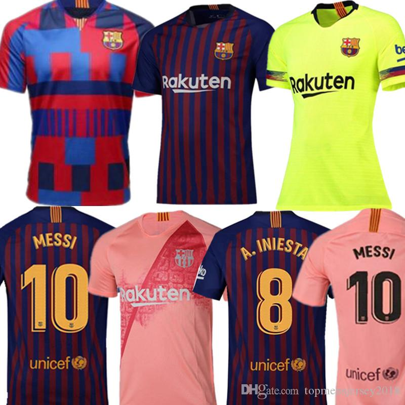 the best attitude f742f 34492 2019 Messi Soccer Jersey Barcelona 2018 2019 Camiseta De Futbol Coutinho  Football Shirt Suarezcamisa De Futebol Dembele Maillot De Foot From ...