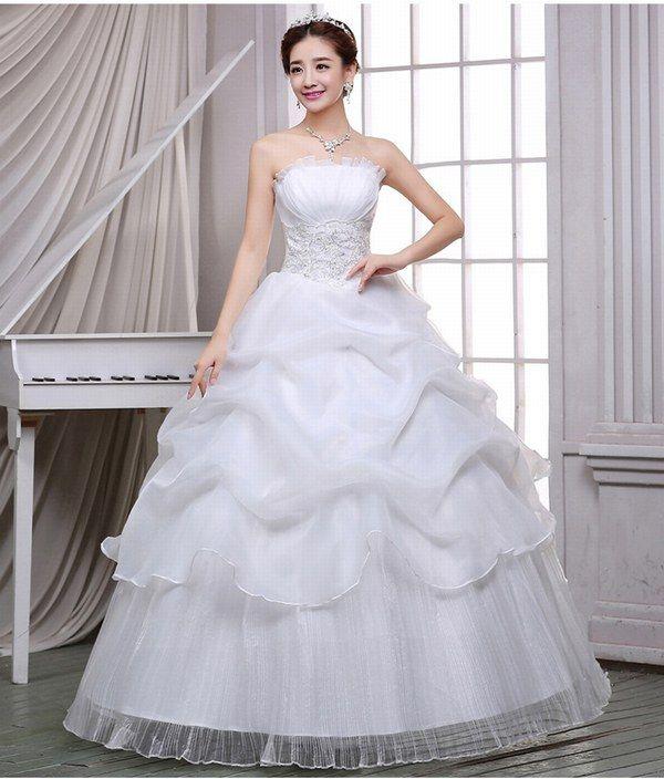 Vestido de boda de encaje sin tirantes sin mangas vestido de bola ocasión formal vestido de encaje trasero vestido nupcial