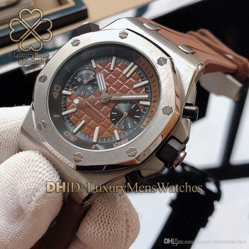 Роскошные часы спортивные мужские часы импорт многофункциональный Mechancial механизм с автоподзаводом наручные часы Natrual резиновый ремешок 42 мм мужские часы