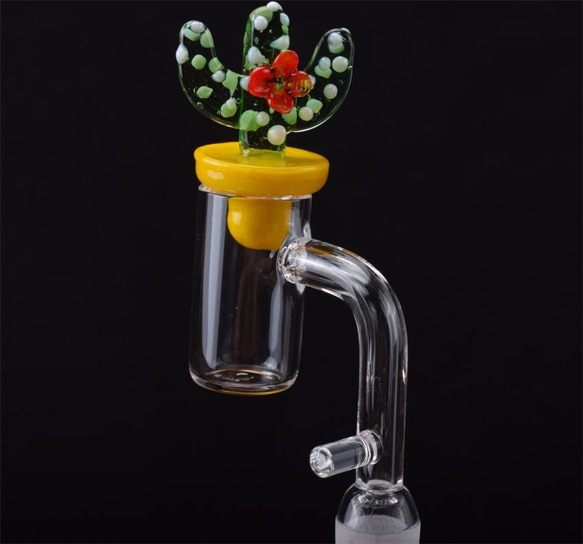 Cuarzo Banger clavo con gancho Cap Carb Cactus Domeless Dab E clavo de 2 mm en paredes laterales gruesas salchichas 16mm 20mm Enail de uñas Rig