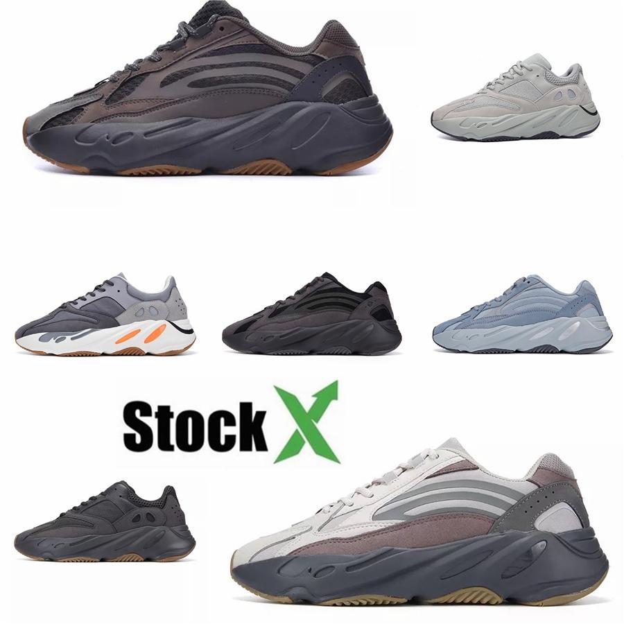 Desiner Calzado casual Kanye West Wave Runner 700 Seankers Deportes zapatillas para hombre Zapatos Mujeres sólido gris tiza Core Negro Sport Hh1231 # DSK132