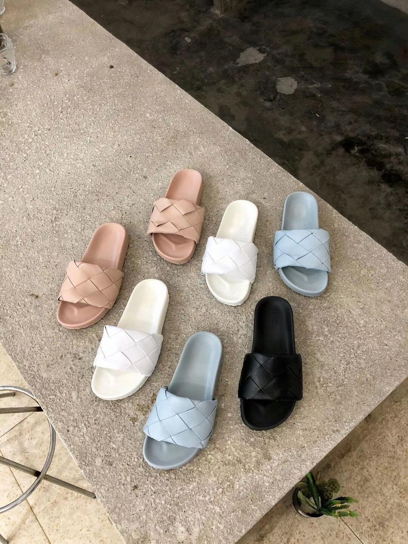 alta qualità! 2020062204 40 bianco nero rosa BLU TESSUTO VETRINI sandali casuali SPIAGGIA VERA PELLE DI AGNELLO CON LA PELLE