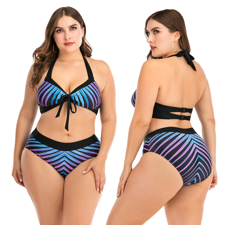 2020 Sexy Bikini Women Swimsuit Push Up Swimwear Bandage Halter Bikini Set Summer Beach Bathing Suit Swim Wear S-XXL