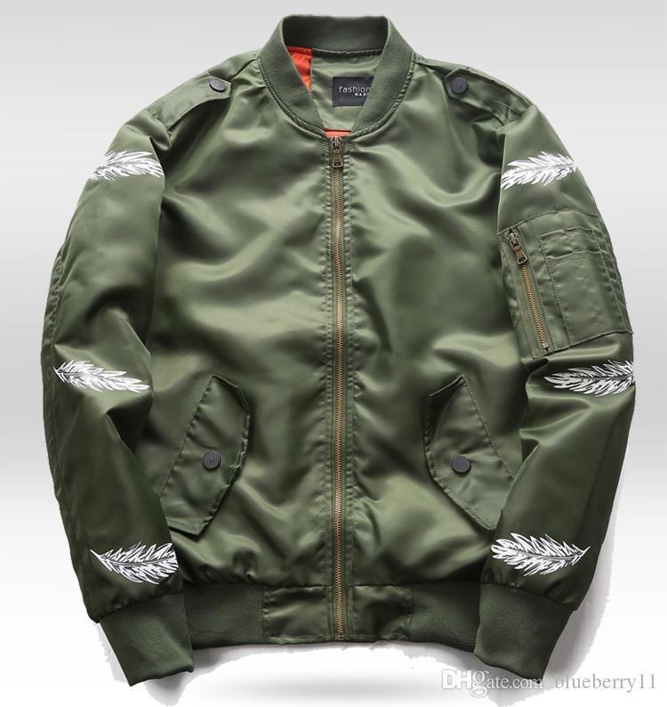 19Men Primavera MA1 Pilot jaquetas pretas verdes vôo japoneses MA1 Casacos Casacos Zipper Outwears Plus Size M-6XL