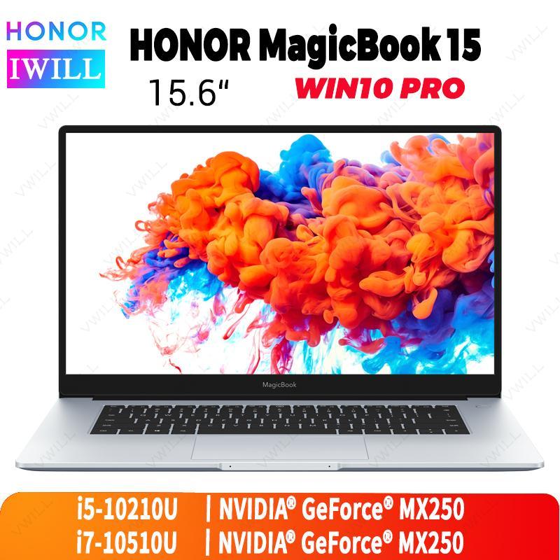 15.6 inch Original HUAWEI HONOR MagicBook 15 Laptop Intel Core i5-10210U/i7-10510U 8GB/16GB DDR4 512GB SSD Windows 10Pro English