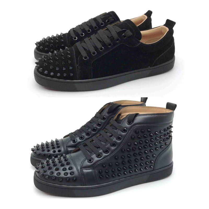 13s chaussures de designer Spike fond rouge baskets chaussures en cuir junior veau mocasson décontracté chaussure daim luxe hommes femmes taille avec sac à poussière