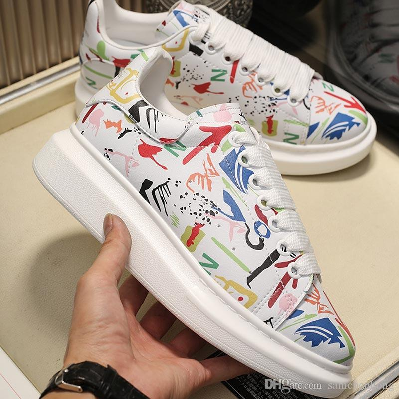La mejor calidad de Graffiti para hombre, zapatos de diseñador de gran tamaño, moda de lujo 3M reflectantes para zapatos de mujer, zapatillas de diseñador famosas casuales de París.