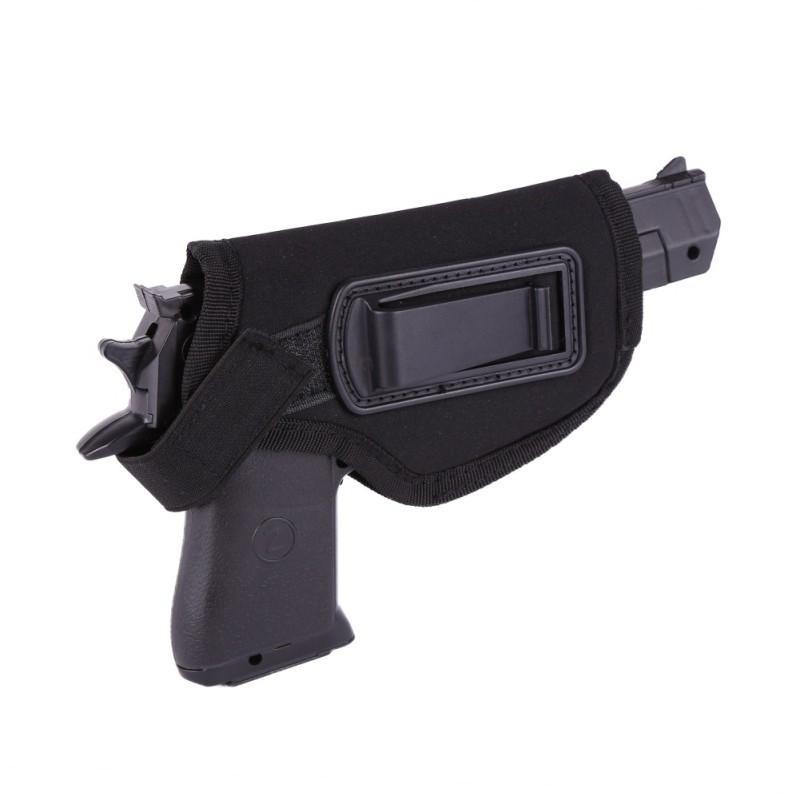 مسدس صيد الإكسسوارات الحافظة السوداء إيفا Styrofoam مع مشابك معدنية لطيفة إخفاء بندقية الحافظة التكتيكية الخصر غمد دائم لليد اليمنى