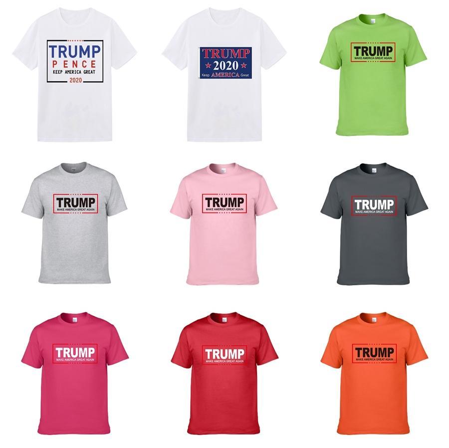 2020 Brand New Hip Hop Men'S Trump Футболка с коротким рукавом Хлопок Streetwear Хирт Рубашка Мужчины Женщины Топы Тис Дизайнерская Мужские футболки Trump Мужчины CLO