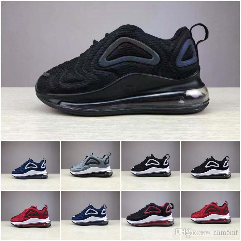 Nike Air Max 720 New Kids Boy Girl Blue Rouge Noir Gris Chaussures de sport de haute qualité pour bébé Mode enfants Sneakers Designers Chaussures de bowling Eur28-35