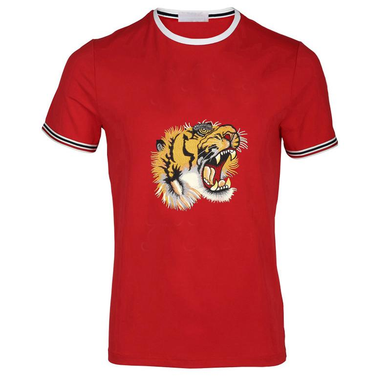 Luxury Fashion Mens T shirts For Man Cotton New Design Slim fit Tiger hococal Head Designer T shirts Men Cotton Casual Men T shirts Tops