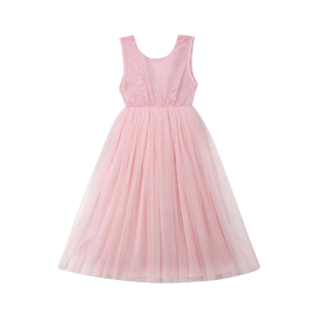 Toddler Kids Baby Girl Flower Dress Lace Tulle Party Bridesmaid Pageant Dresses