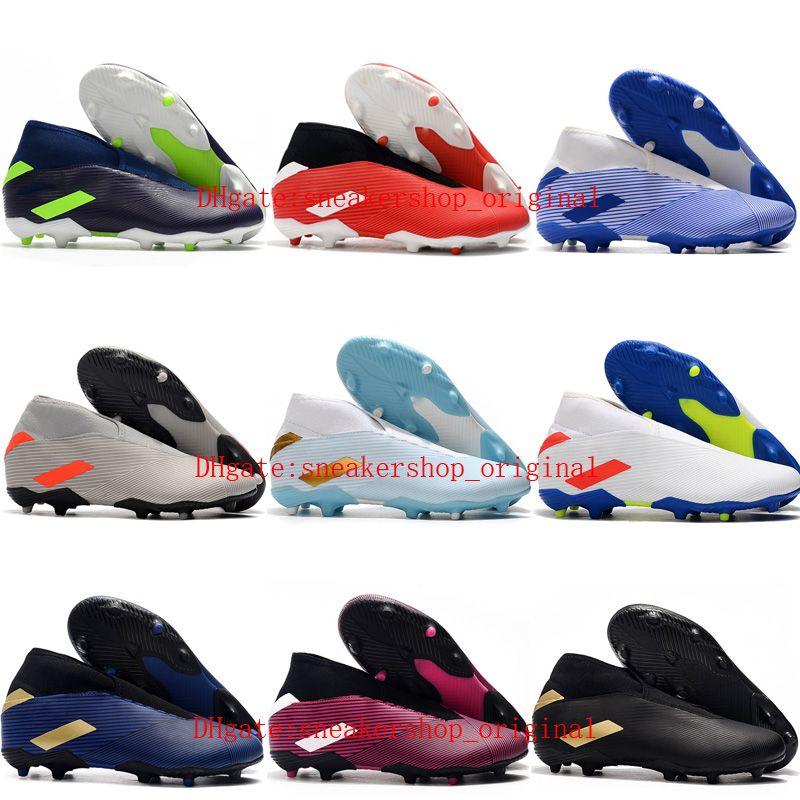 2020 de calidad superior para hombre zapatos de fútbol Nemeziz 19.3 Laceless FG tacos de fútbol al aire libre botas de fútbol de alta messi tobillo scarpe da calcio 02