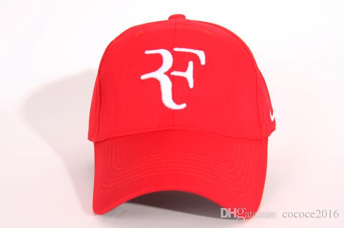 2019 вышивка новые мужчины лето прохладный шляпа Роджер Федерер РФ теннис болельщики шапки прохладный лето Бейсбол теннис спорт шляпа мужчины бейсболка