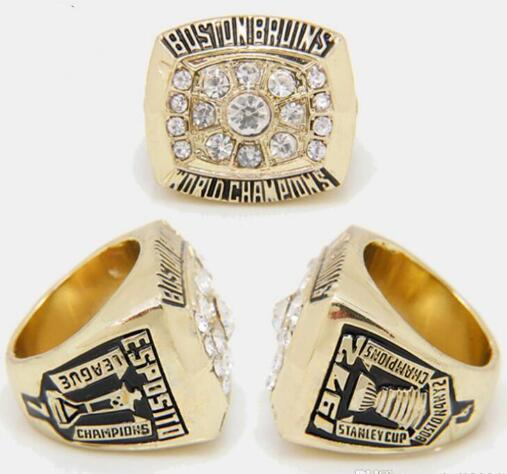 Feine commemorate Ringe Eishockey NHL 2011 1972 1970 Boston Brown Bears Meisterschaft Legierungs-Ring-Fans Geschenk