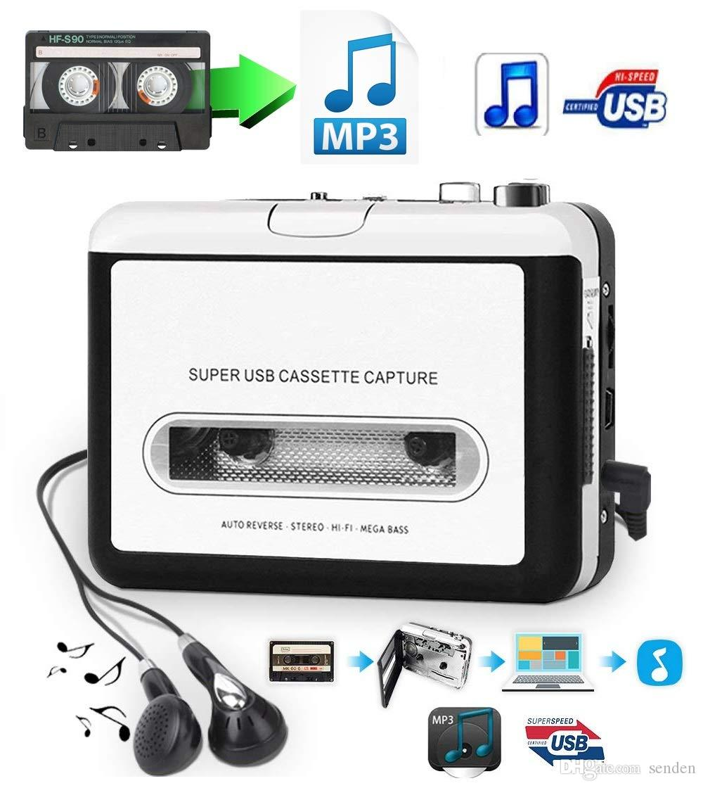 Classic USB Cassette Player Cassette to MP3 Converter Capture Walkman MP3 Player Cassette Recorders Convert music on tape to Computer Laptop
