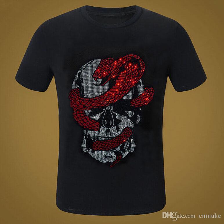 T-shirt Tops clássico da moda marca t shirt Diamonds vestuário T camisas homens Streetwear