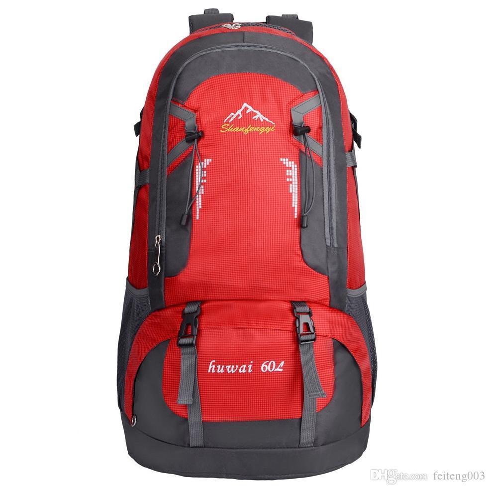 Borsa sportiva da esterno impermeabile 60L per escursionismo viaggio alpinismo arrampicata su roccia campeggio # 109042
