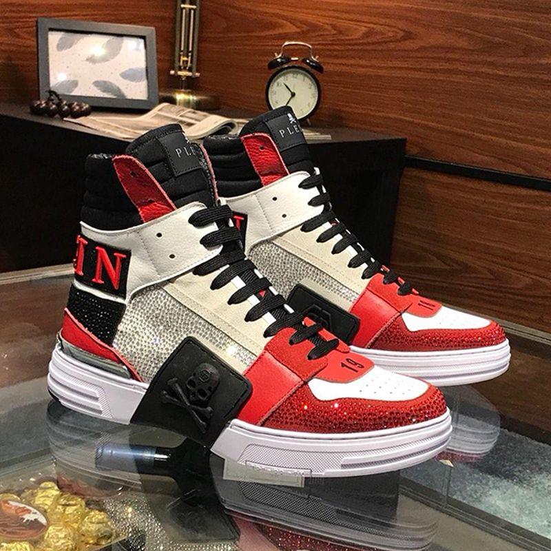 Zapatillas de deporte de los hombres de moda casual Tenis Sport Formadores Soft-top zapatos con caja de Origen para hombre Zapatos calza botas de lujo vierte hommes