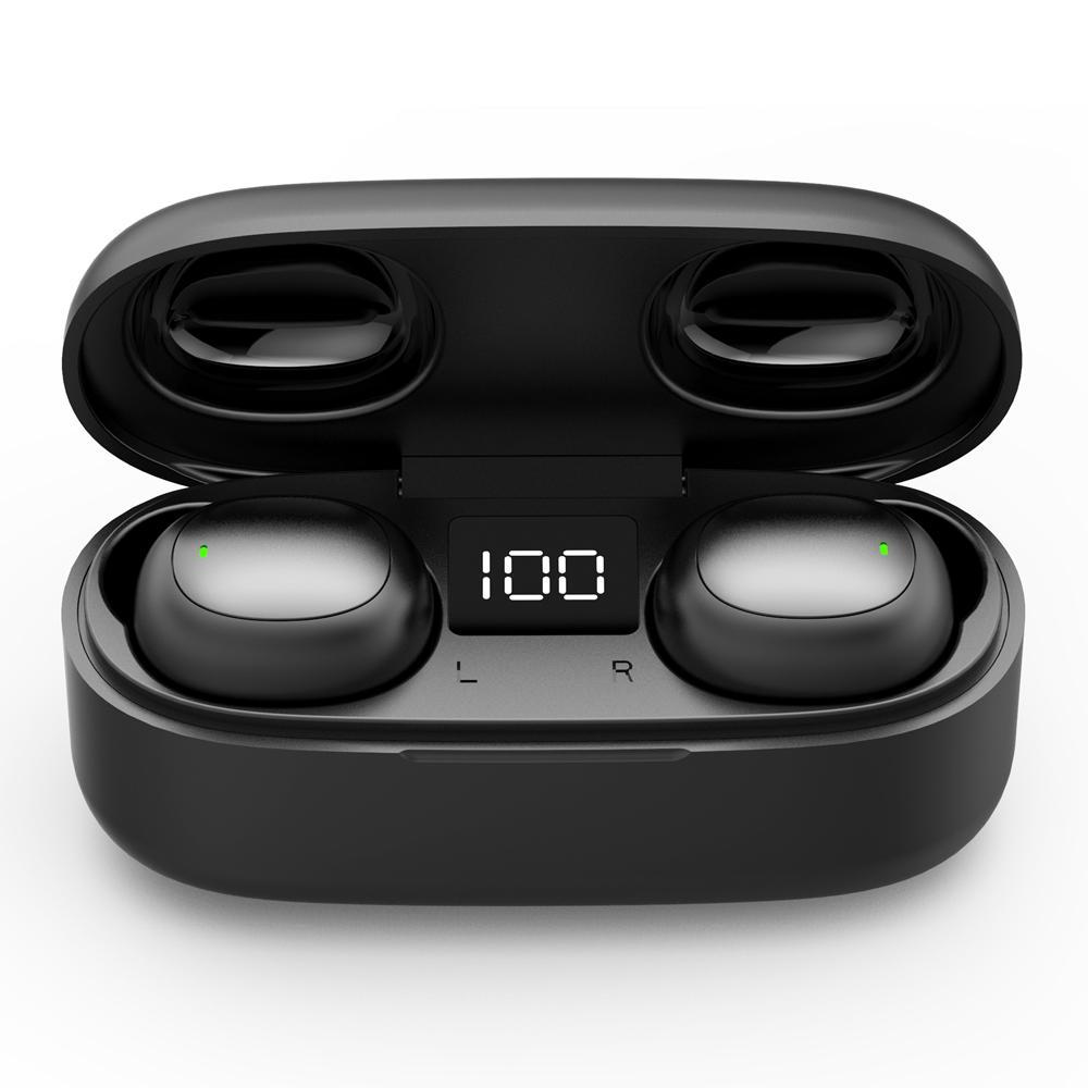 ماء سماعات بلوتوث تعمل باللمس التحكم في 5.0 سماعات لاسلكية سماعات الأذن قوة العرض HD ستيريو الضوضاء الغاء سماعة ستيريو هاي فاي