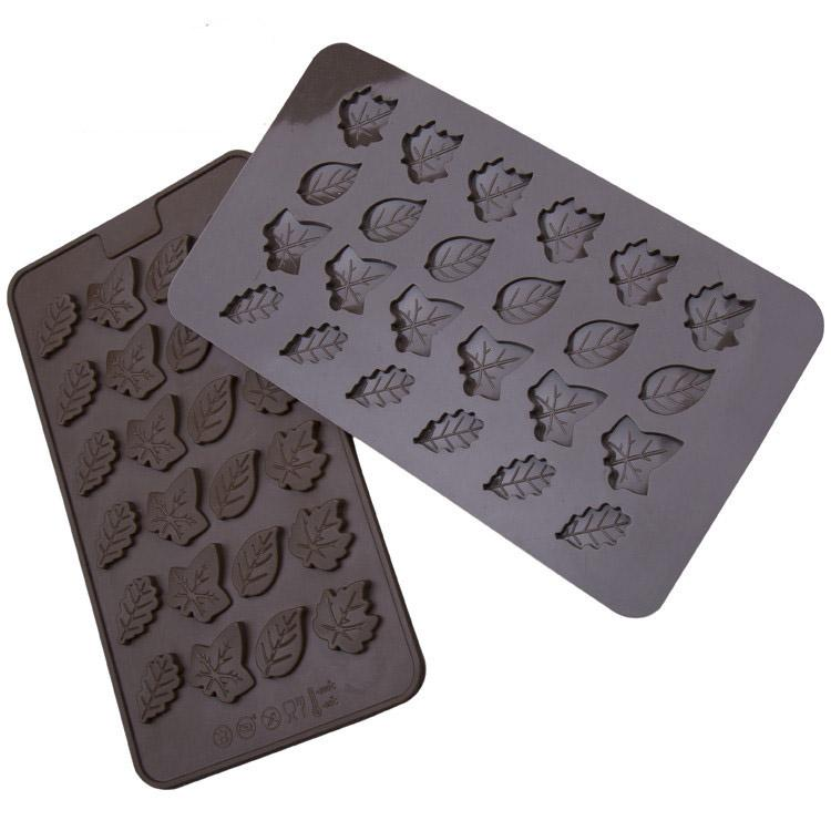 1pc Leaf Shape Silicone Cake Mold Chocolate Cupcake Ice Soap Butter Small Brownies Mould Party Cake Cookie Tools