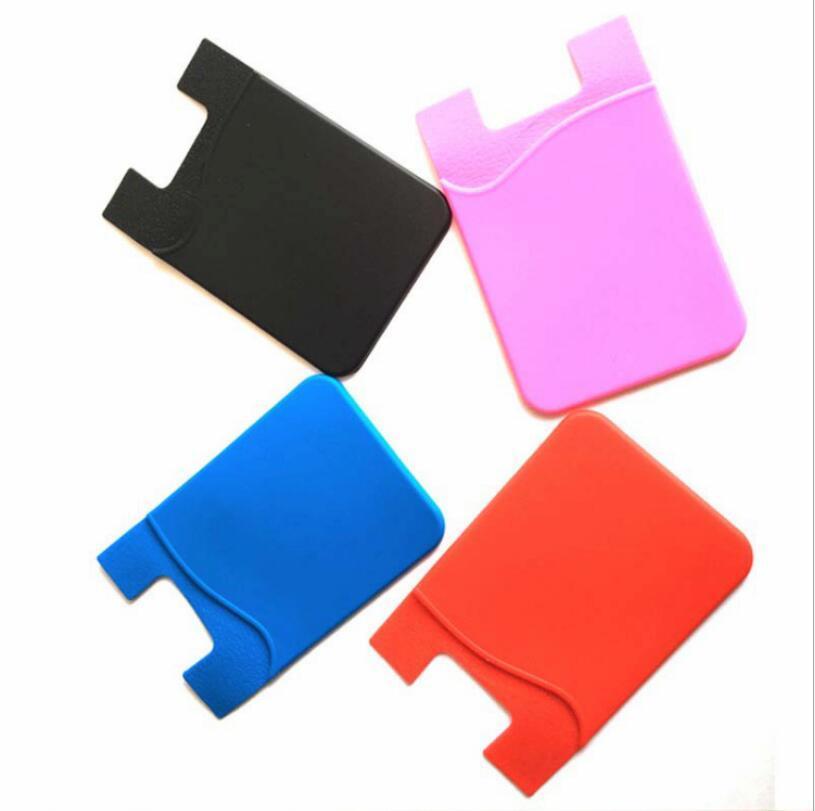 حامل بطاقة الهاتف سيليكون الهاتف الخليوي رقم المحفظة بطاقة الائتمان حامل الجيب عصا في 3M لاصق مع حقيبة OPP