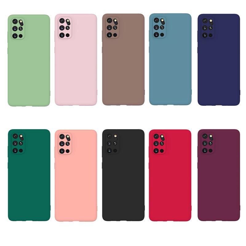 İnce Yumuşak TPU Kılıf için Samsung S20 Artı S20 Ultra S20 A91, A81, A71, A51 A41 A21 Mat Ultra İnce Düz Lüks Jel Renkli Telefon Kapak Coque