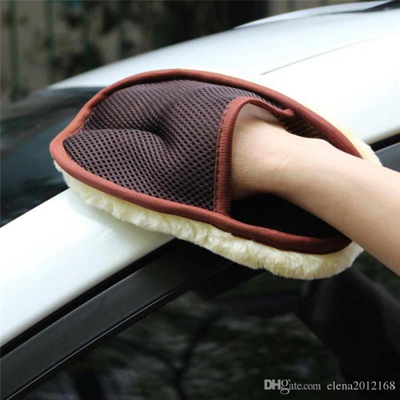 التصميم السيارات 15 * 24CM السيارات فرشاة تنظيف السيارات الأنظف الصوف القفازات غسل لينة سيارة فرشاة تنظيف للدراجات النارية العناية غسالة
