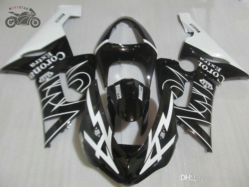 Kit carénage moto pour Kawasaki Ninja ZX6R ZX636 05 06 ZX6R 2005 2006 sport route de carrosserie couronne noire repsol