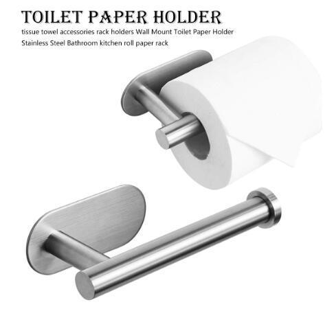 Rollo de papel de cocina accesorios de montaje en pared soporte de papel higiénico accesorios de acero inoxidable toalla de baño tejido estante titulares