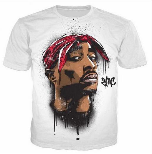 2019 Tupac 2pac 3D T-Shirt 3D Vêtements D'été T-Shirt Hommes Grands Vêtements T-shirt TShirt DX012