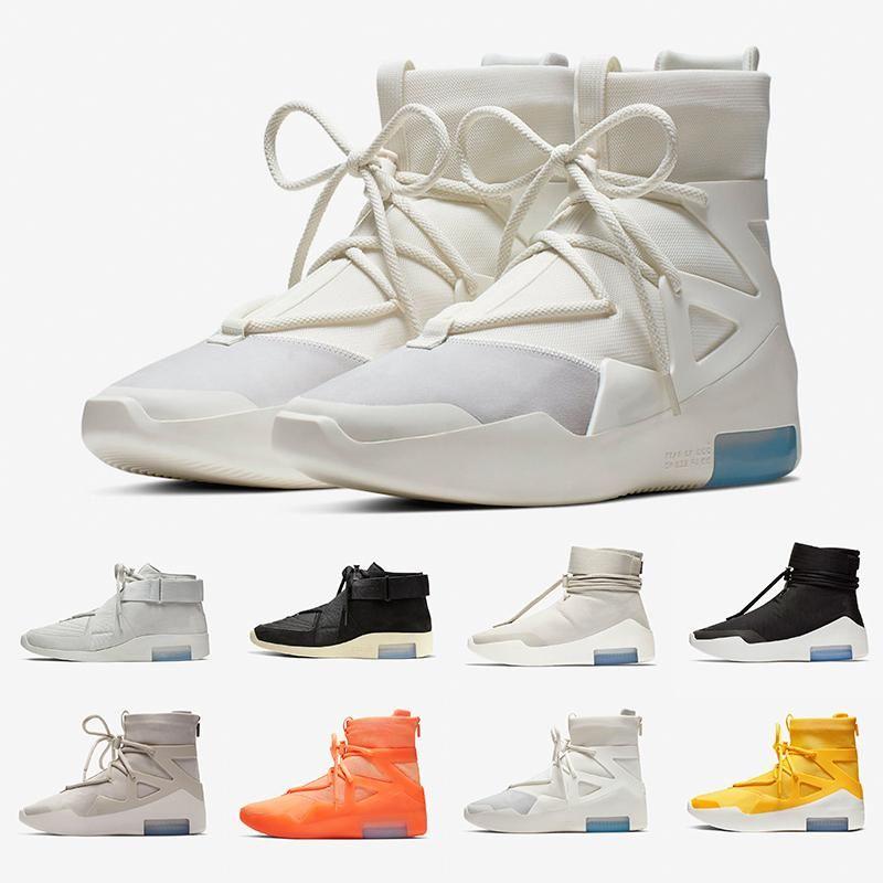 Avec la boîte FOG La crainte de Dieu X 1 SA 180 Raid Bottes Lumière os luxe Designers Chaussures de course de sport Voile extérieure 36-45 xshfbcl